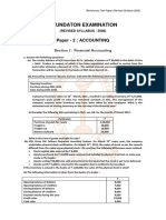Paper - 2 Accounting Syllabus