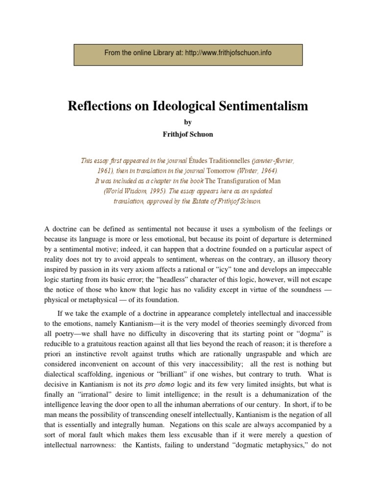 Sentimentalism: what does this concept mean in the literature