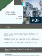 Topics Presentation