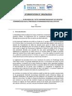 Acte Uniforme Revisé Sur Les Sociétés Commerciales
