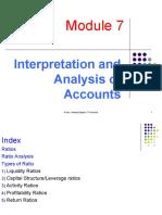 Module 7.2 Interpretation and Analysis of Accounts 17.10.12