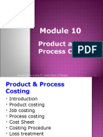 Module 10.Product and Process Costing 15.05.2012