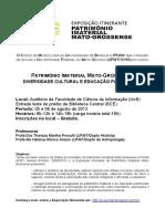 Curso UFMT Patrimonio Imaterial