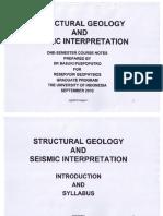 Geologi Struktur (3 Sept 2010)