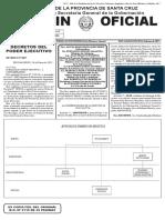 Boletín Oficial Nº 5110 - Aumento de sueldos Gobierno de Santa Cruz