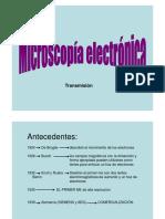 Tema 3- Microscopio Electrónico