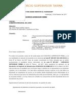 Cartas Consorcio Supervisor Tarma 003-2017