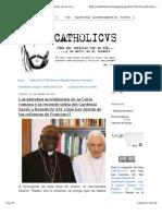 Cardenal Sarah Y Benedicto XVI