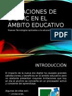 Limitaciones de Las Tic en El Ámbito Educativo