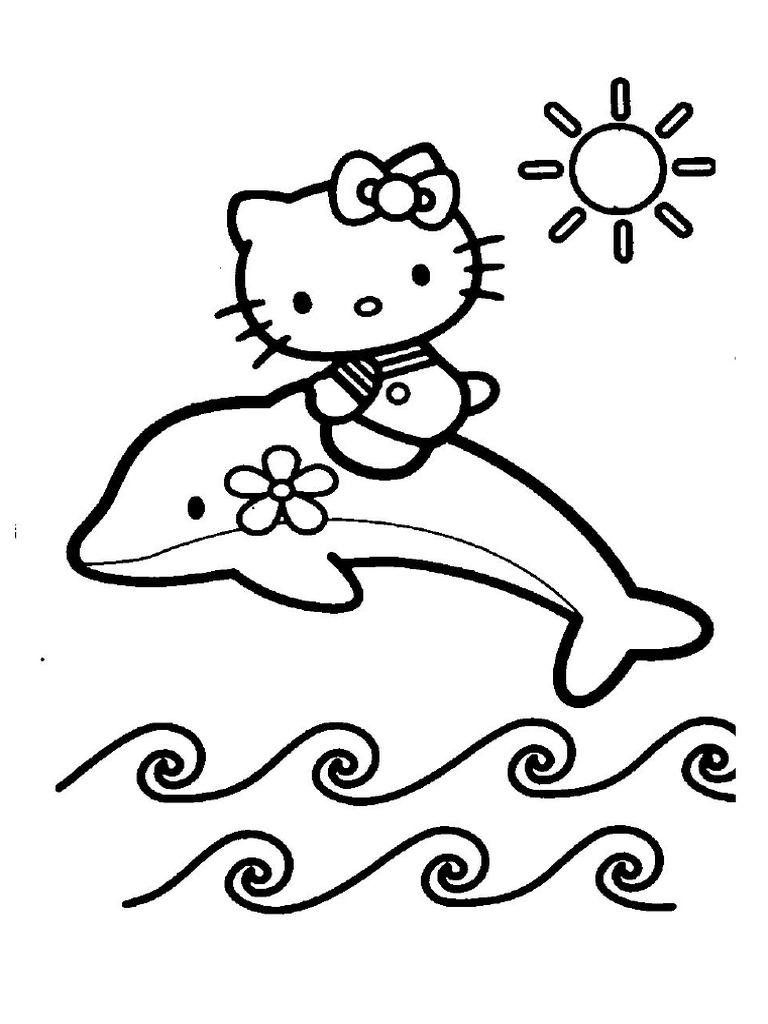Mewarnai Hello Kitty Lumba Lumba