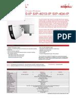 Pds Sip 3020 Ip_4010 Ip_404 Ip Datasheet