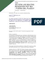 Multas Por Presentar PDT 601 PLAME Fuera Del Plazo