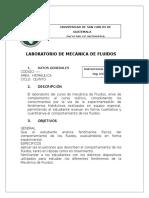 1 Programa de Laboratorio de Mecanica de Fluidos Junio 2013