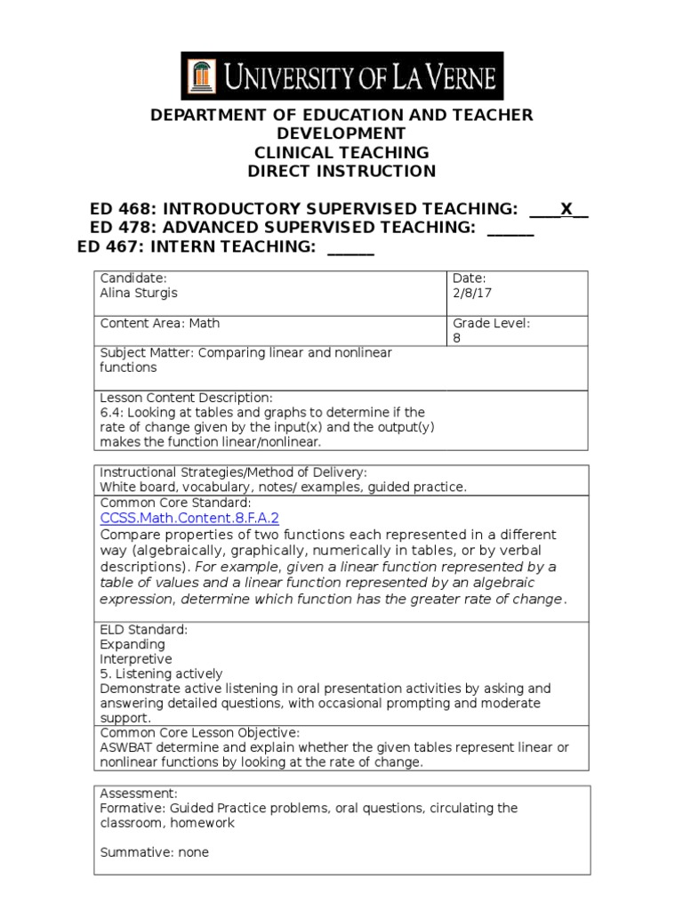 2817 ccm8 nonlinear Derivative – Linear and Nonlinear Functions Worksheet