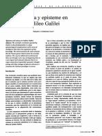 Rodriguez Casas, G. a._ciencia y Episteme en Galileo Galilei