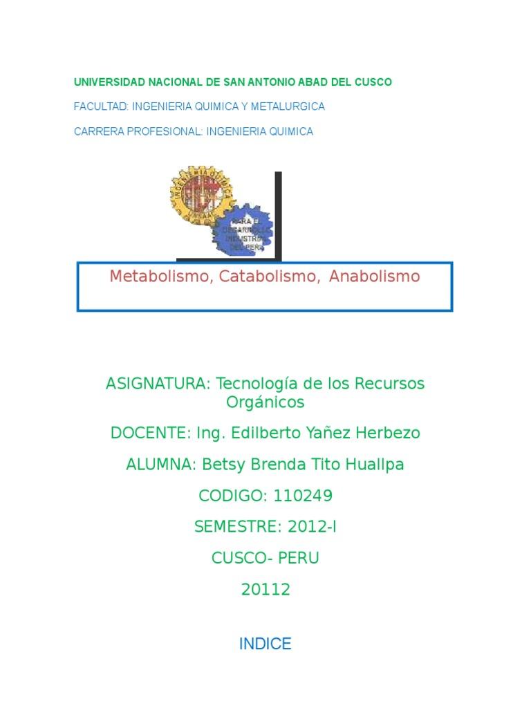 CATABOLISMO - Metabolismo - Nicotinamida adenina dinucleótido