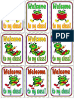 Welcome Stickers