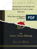 Observations on Vitruvii de Architectura Libri Decem