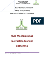 08 Instruction Manul of Fluid Mechanics Lab