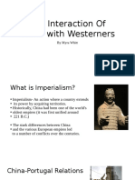 The Interaction of China With Westerners