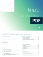 Finale Quick Reference Guide for Windows
