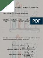 Conversión de Unidades y Factores de Conversión