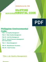 Philippine Environmental Code 2