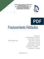 RESUMEN FRACTURAMIENTO HIDRÁULICO