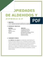 Propiedades de Aldehidos y Cetonas
