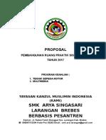 Contoh Proposal Pengajuan RPS SMK Arya Singasari Larangan Brebes