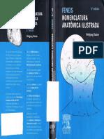 Feneis Nomenclatura Anatomica Ilustrada 5a Ed