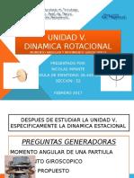 Unidad v Dinamica Rotacional Fisica i. Iuts. Nicolas Infante