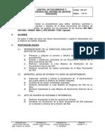 PSI 4-01 Control de Documentos y Registros Del Sistema de Gestion Integrado