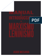 Manual de Introduccion Al Marxismo-leninismo - Juan Mesana