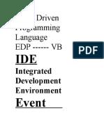 Event Driven Programming Language