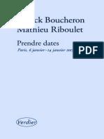 Patrick Boucheron - Prendre Dates