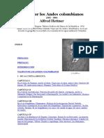 Hettner Alfred - Viaje por los Andes Colombianos