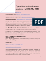 Malaysia Open Source Conference Call for Speakers - MOSC MY 2017