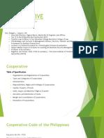 Cooperatives to Liquidation of Cooperative