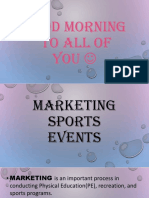Marketing Sports Events