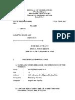 Judicial Affidavit Agustin Gahigulo