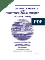 Trinity Catalog 2015 2016