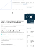Monte Carlo Simulation Formula in Excel - Tutorial and Download - Excel TV