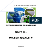 Unit 3 - Quality of Water