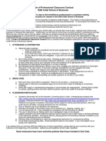 Collat Code of Professional Classroom Conduct