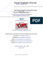 Depression an Integration of TA and Psychodynamic Concepts