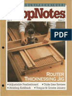 ShopNotes 21 - Router Thicknessing Jig
