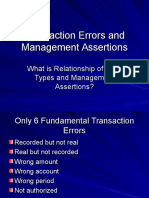 Transaction Errors and Management Assertions