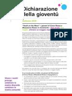 Solferino Youth Declaration (IFRC) - Italian