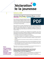 Solferino Youth Declaration (IFRC) - French